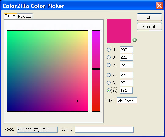 ColorZilla Firefox Color Picker 1