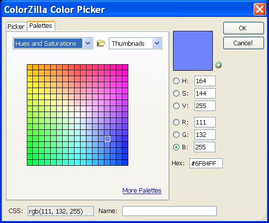 ColorZilla Firefox Color Picker 2