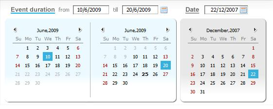 DHTMLX Calendar Screenshot