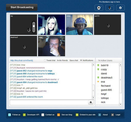 make private chat room tinychat