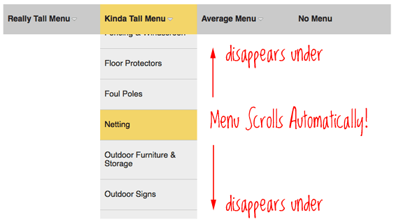 jQuery Accessible Tall Menu