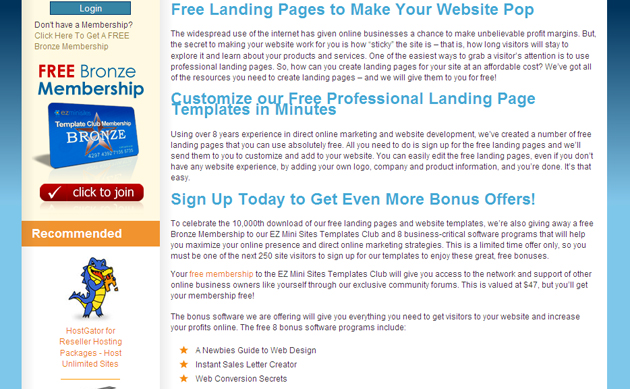 Website Landing Pages